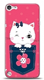iPod Touch 5 Pink Cat Kılıf
