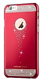 Dafoni Joyroom iPhone 6 / 6S Taşlı Kırmızı Rubber Kılıf