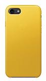 Dafoni Leather iPhone 7 / 8 Sarı Deri Kılıf