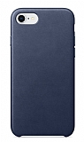 Dafoni Leather iPhone 7 / 8 Lacivert Deri Kılıf