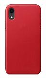 Dafoni Leather iPhone XR Kırmızı Deri Kılıf