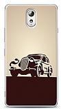 Dafoni Lenovo Vibe P1m Vintage Car Cream Kılıf