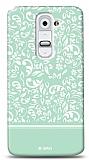 Dafoni LG G2 Green Flower K�l�f