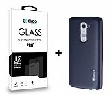 Dafoni LG G2 Dark Silver K�l�f ve Eiroo Cam Ekran Koruyucu Seti
