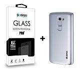 Dafoni LG G2 Silver K�l�f ve Eiroo Cam Ekran Koruyucu Seti