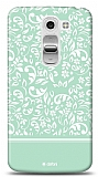 LG G2 Mini Green Flower Kılıf