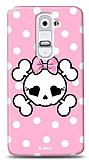 Dafoni  LG G2 Pink Skull K�l�f