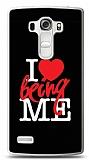 LG G4 Beat I Love Being Me Black Kılıf