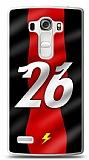 LG G4 Beat Kırmızı Şimşekler Kılıf