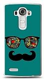 LG G4 Gözlük Bıyık Yeşil Kılıf
