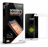Dafoni LG G5 Curve Tempered Glass Premium Beyaz Full Cam Ekran Koruyucu