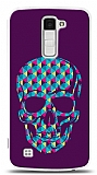 Dafoni LG K10 Color Skull Purple Kılıf