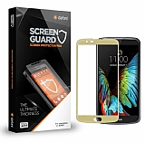 Dafoni LG K10 Curve Tempered Glass Premium Gold Full Cam Ekran Koruyucu