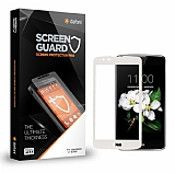 Dafoni LG K7 Curve Tempered Glass Premium Beyaz Full Cam Ekran Koruyucu