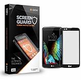 Dafoni LG K7 Tempered Glass Premium Siyah Full Cam Ekran Koruyucu