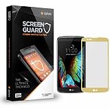 Dafoni LG K7 Tempered Glass Premium Gold Full Cam Ekran Koruyucu