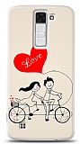 LG K8 Love Bike Couple Kılıf