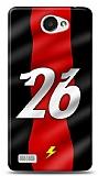 Dafoni LG L Bello 2 Kırmızı Şimşekler Kılıf