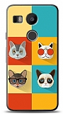 LG Nexus 5X Four Cats Kılıf