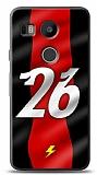 LG Nexus 5X Kırmızı Şimşekler Kılıf