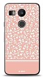 LG Nexus 5X Pink Flower Kılıf