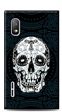 LG Optimus L5 Black Skull Kılıf