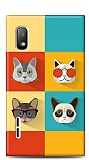 LG Optimus L5 Four Cats Kılıf