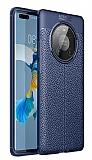 Dafoni Liquid Shield Huawei Mate 40 Pro Ultra Koruma Lacivert Kılıf