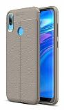 Dafoni Liquid Shield Huawei Y7 Prime 2019 Gri Silikon Kılıf