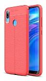 Dafoni Liquid Shield Huawei Y7 Prime 2019 Kırmızı Silikon Kılıf