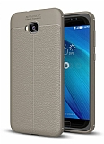 Dafoni Liquid Shield Premium Asus ZenFone 4 Selfie ZD553KL Gri Silikon Kılıf