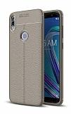 Dafoni Liquid Shield Premium Asus Zenfone Max Pro ZB602KL Gri Silikon Kılıf
