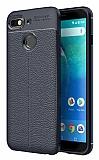 Dafoni Liquid Shield Premium General Mobile GM 8 GO Lacivert Silikon Kılıf