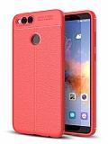 Dafoni Liquid Shield Premium Honor 7X Kırmızı Silikon Kılıf