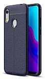 Dafoni Liquid Shield Premium Huawei Y6 2019 / Honor 8A Lacivert Silikon Kılıf