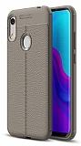 Dafoni Liquid Shield Premium Huawei Y6 2019 / Honor 8A Gri Silikon Kılıf