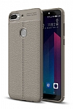 Dafoni Liquid Shield Premium HTC Desire 12 Plus Dark Silver Silikon Kılıf
