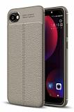 Dafoni Liquid Shield Premium HTC Desire 12 Dark Silver Silikon Kılıf