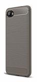 Eiroo Carbon Shield HTC Desire 12 Ultra Koruma Dark Silver Kılıf