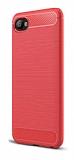 Eiroo Carbon Shield HTC Desire 12 Ultra Koruma Kırmızı Kılıf