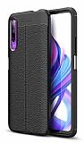 Dafoni Liquid Shield Premium Huawei P Smart Pro 2019 Siyah Silikon Kılıf