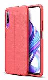 Dafoni Liquid Shield Premium Huawei P Smart Pro 2019 Kırmızı Silikon Kılıf