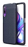 Dafoni Liquid Shield Premium Huawei P Smart Pro 2019 Lacivert Silikon Kılıf