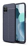 Dafoni Liquid Shield Premium Huawei P40 Lite Lacivert Silikon Kılıf