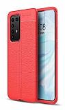 Dafoni Liquid Shield Premium Huawei P40 Pro Kırmızı Silikon Kılıf