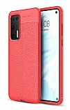 Dafoni Liquid Shield Premium Huawei P40 Kırmızı Silikon Kılıf