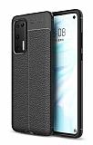Dafoni Liquid Shield Premium Huawei P40 Siyah Silikon Kılıf