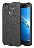 Dafoni Liquid Shield Premium Huawei P9 Lite Mini Siyah Silikon Kılıf