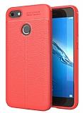 Dafoni Liquid Shield Premium Huawei P9 Lite Mini Kırmızı Silikon Kılıf