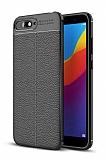 Dafoni Liquid Shield Premium Huawei Y6 2018 Siyah Silikon Kılıf